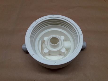 Filter housing base inlet-outlet